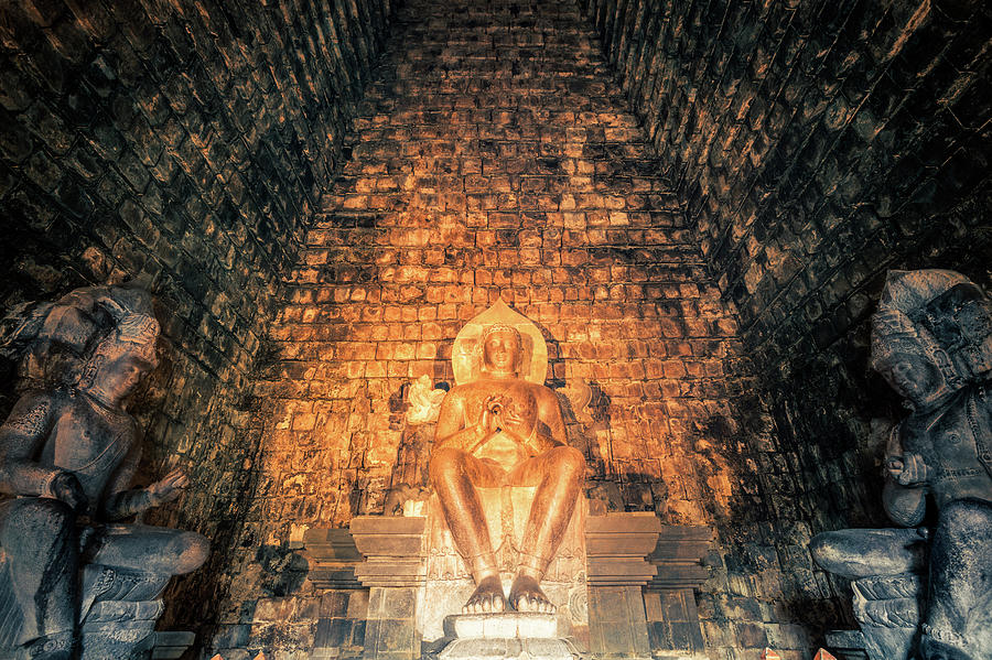 Statue Of Buddha In A Temple, Java Photograph by Zodebala