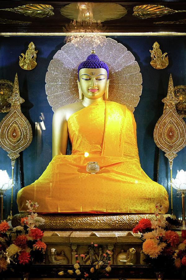 Statue Of Buddha Shakyamuni Mahabodhi Photograph by Photo By Jamyang Zangpo