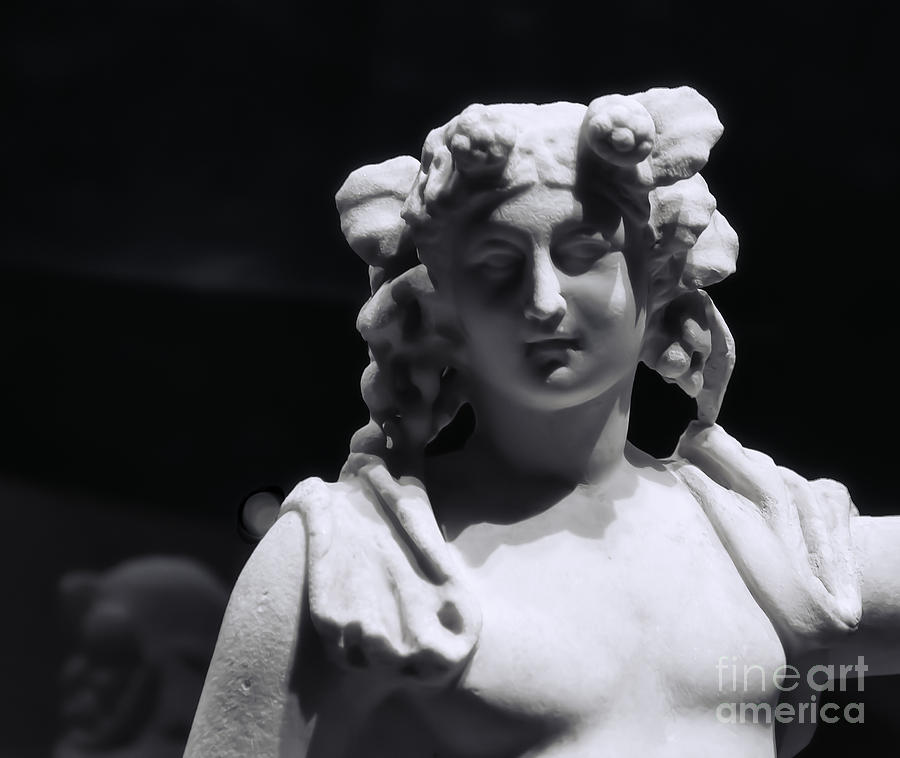Pompeii Photograph - Statue Of Dionysus by Catherine Fenner