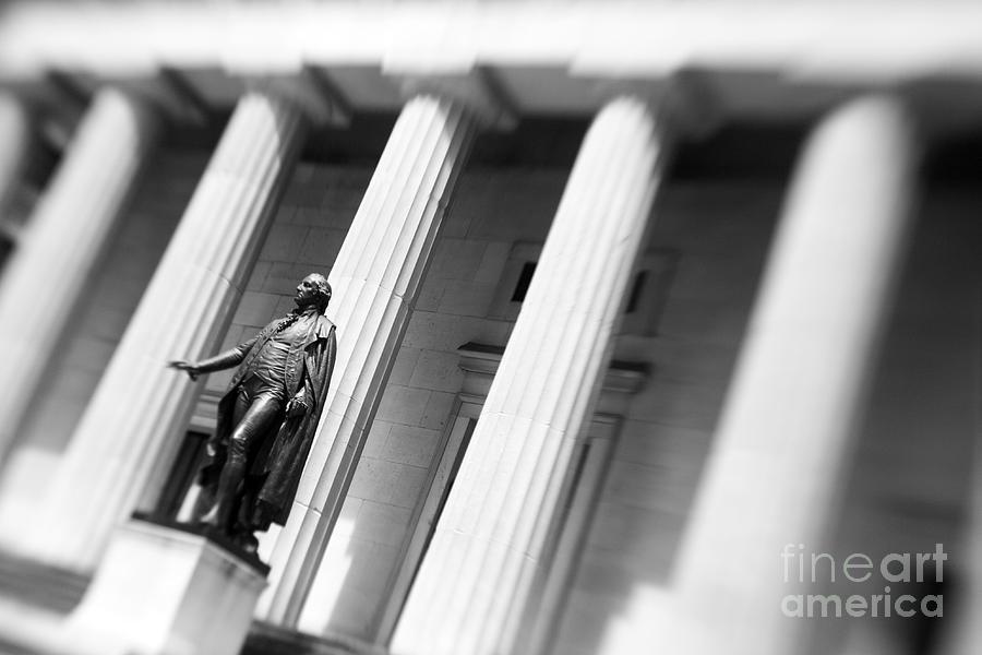 Statue Photograph - Statue Of George Washington by Tony Cordoza