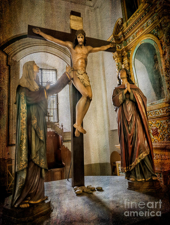 Catholic Photograph - Statue Of Jesus by Adrian Evans