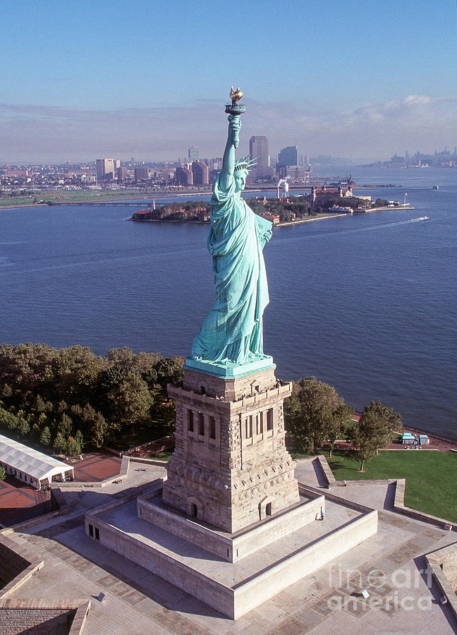 Landmark Photograph - Statue Of Liberty Close by Kim Lessel
