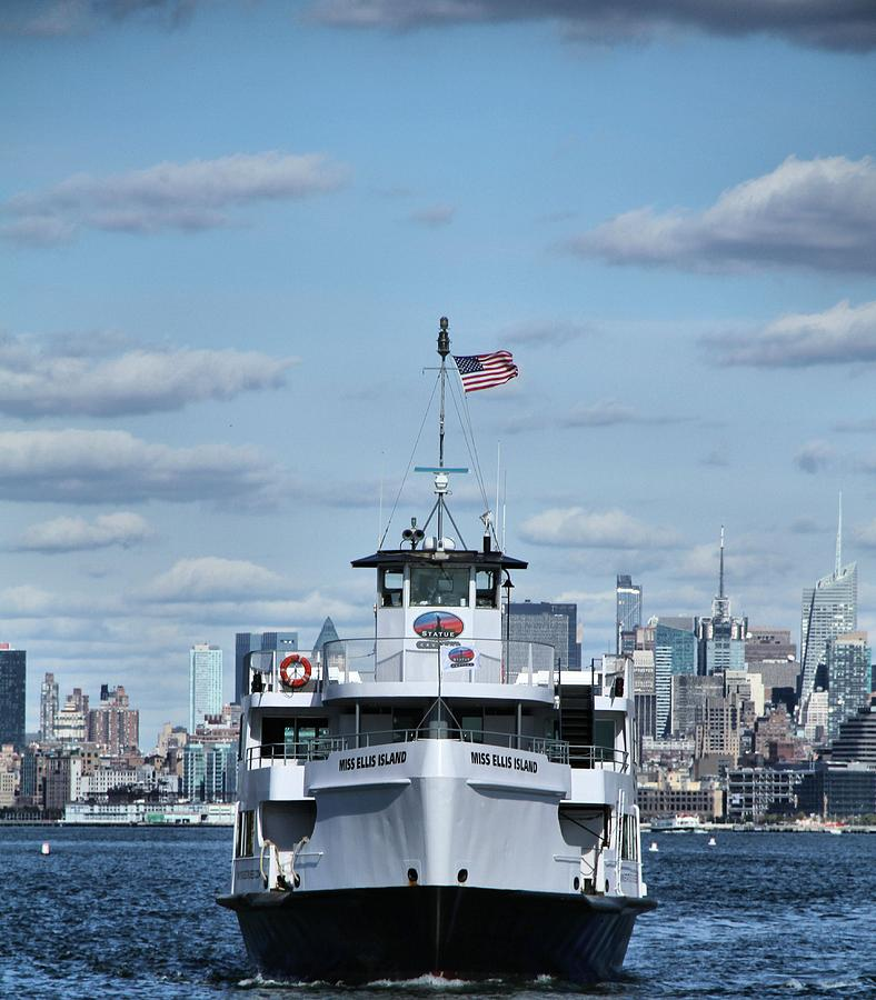 Statue Of Liberty Ferry Photograph - Statue Of Liberty Ferry by Dan Sproul