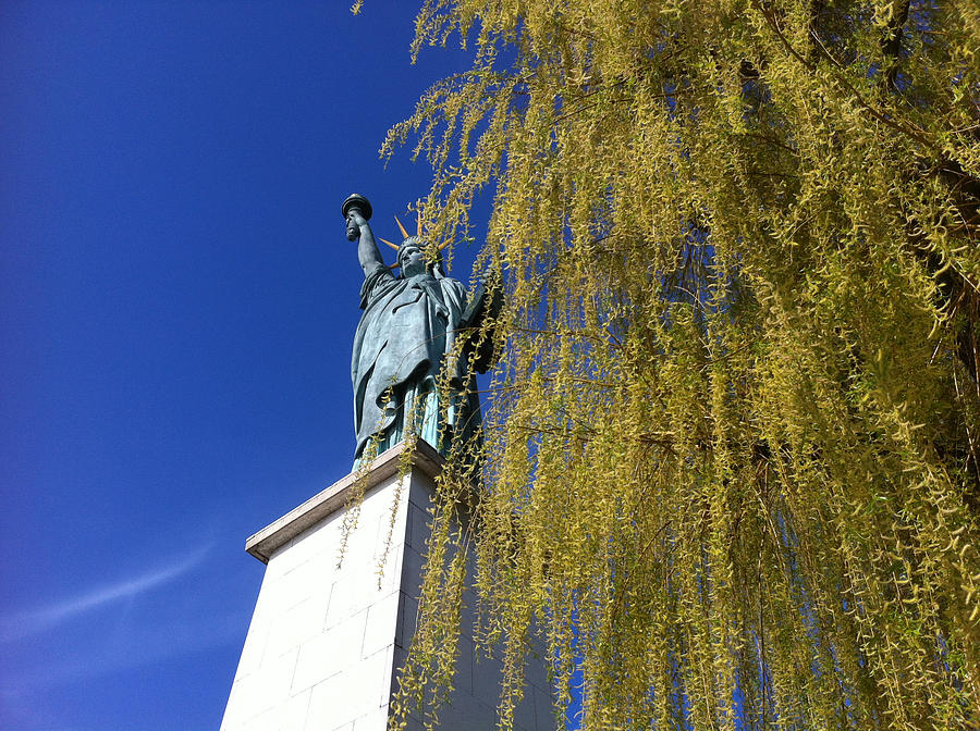 Liberty Statue Photograph - statue of liberty in Paris by Tila Gun