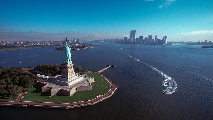 Landmarks Photograph - Statue Of Liberty by Kim Lessel