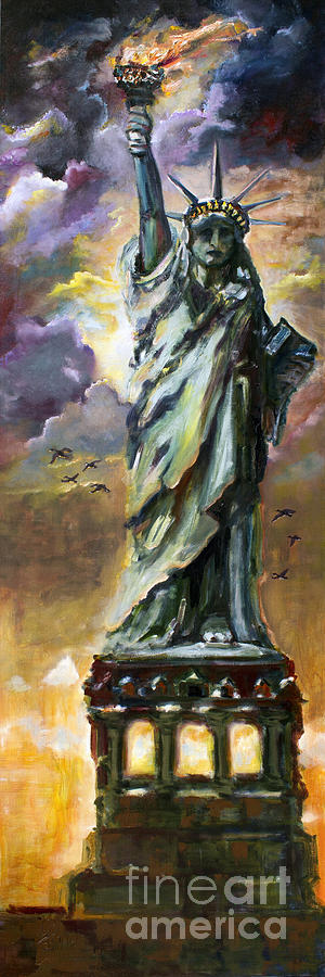 Statue of Liberty New York  Painting by Ginette Callaway