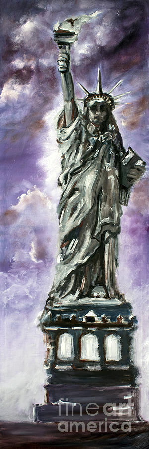 New York Painting - Statue Of Liberty Part 3 by Ginette Callaway