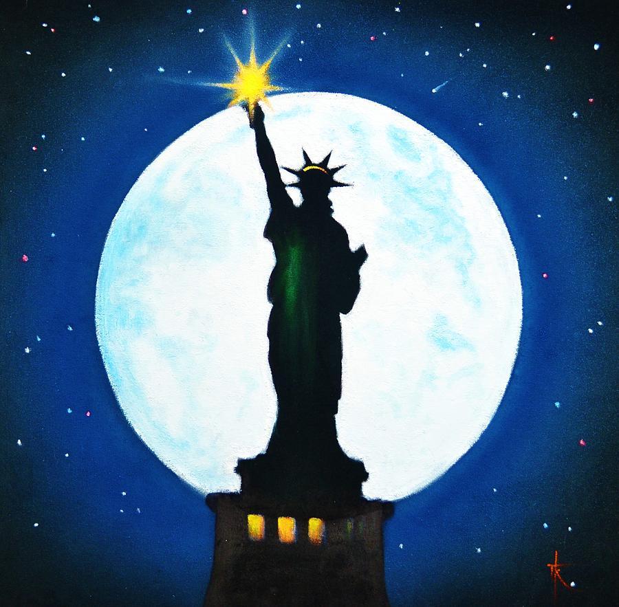 Statue Of Liberty Painting By Thomas Kolendra