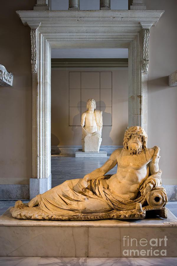 Ancient Photograph - Statue Of The Oceanus by Artur Bogacki