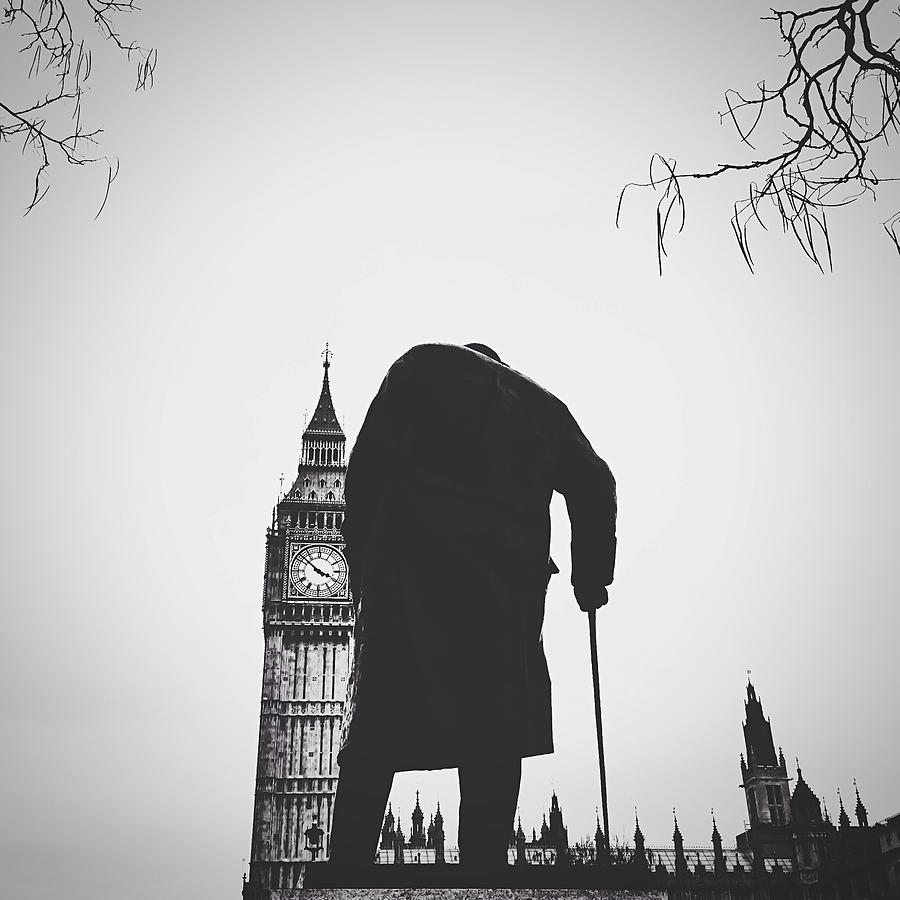 Statue Of Winston Churchill With Big Ben Photograph by Gera Heusen / Eyeem