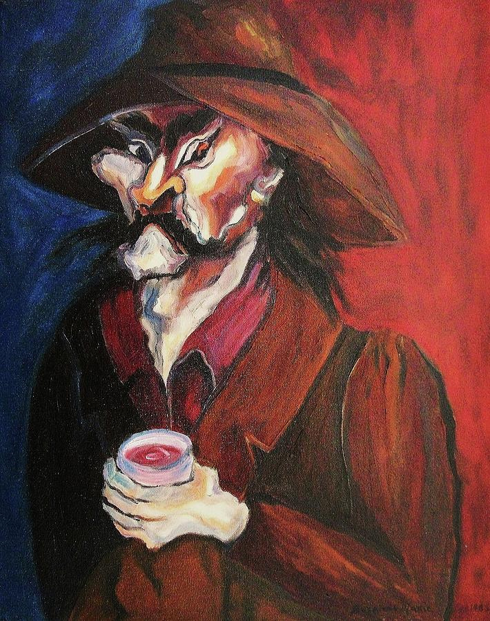 Man Painting - Stay Away by Suzanne  Marie Leclair