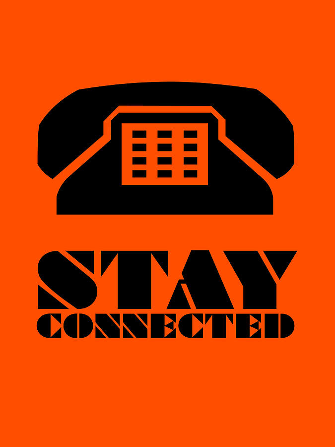 Funny Digital Art - Stay Connected 3 by Naxart Studio