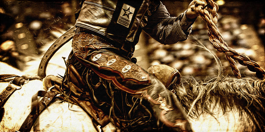 Rodeo Photograph - Staying in the Saddle by Lincoln Rogers