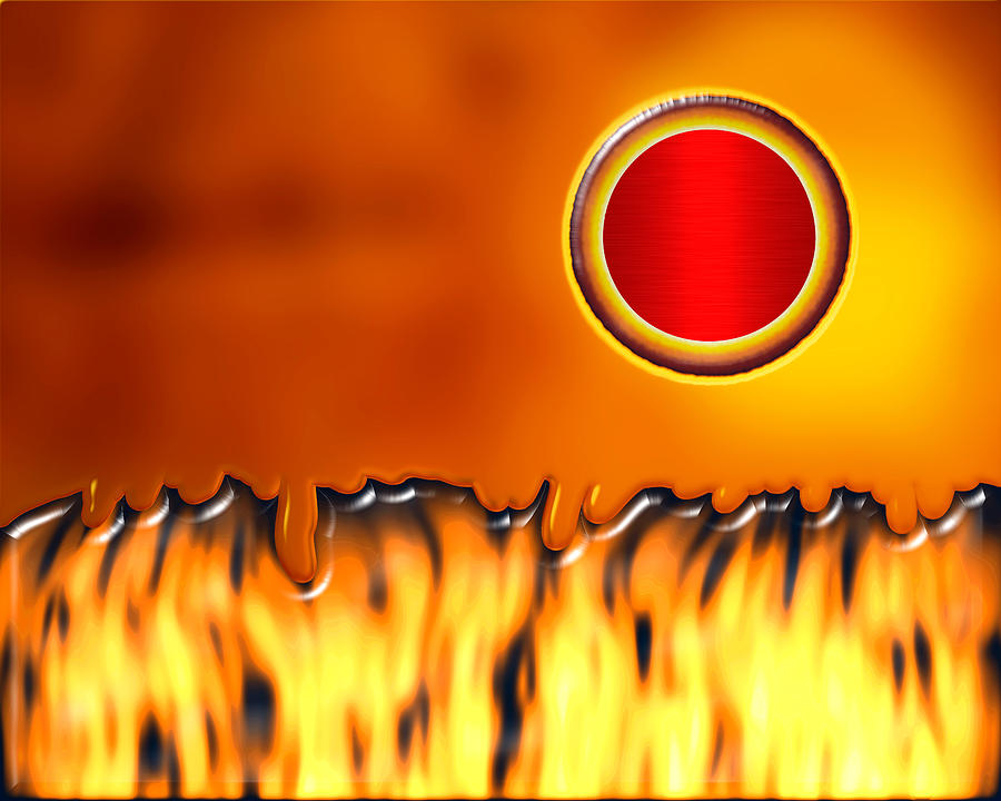 Abstract Digital Art - Steady Burn by Wendy J St Christopher
