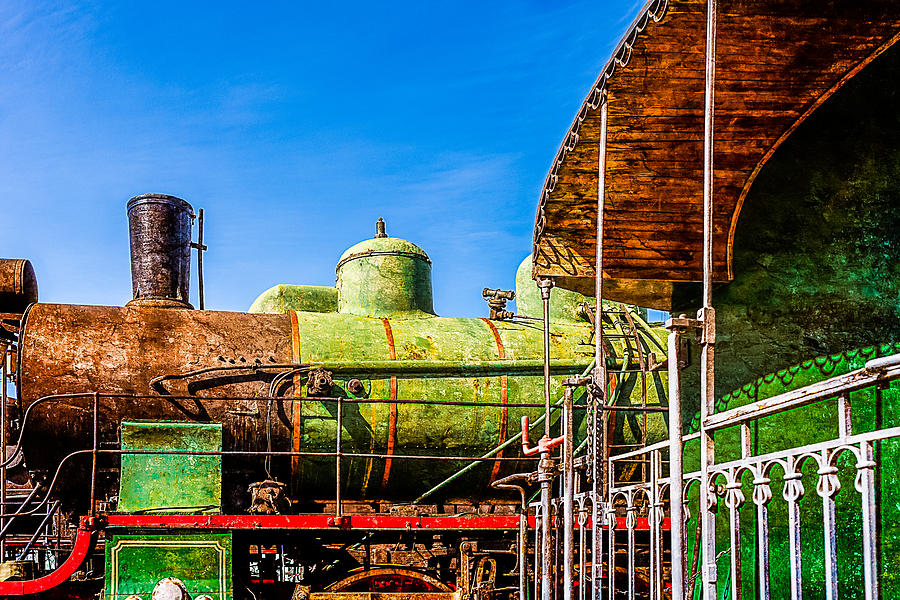 Train Photograph - Steam And Iron - Last Station by Alexander Senin