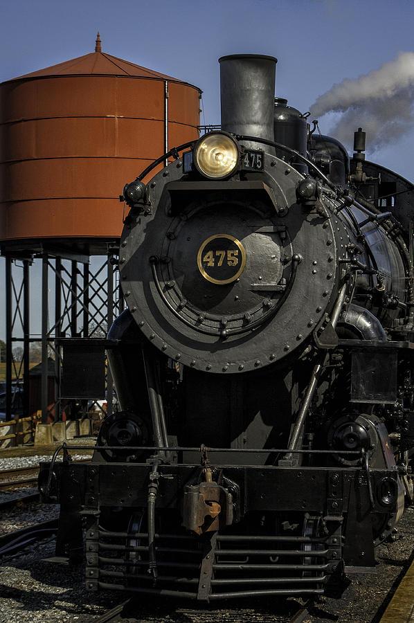 Strasburg Rr Photograph - Steam Engine #475 Pulling Into The Strasburg Rr Station  01 by Mark Serfass