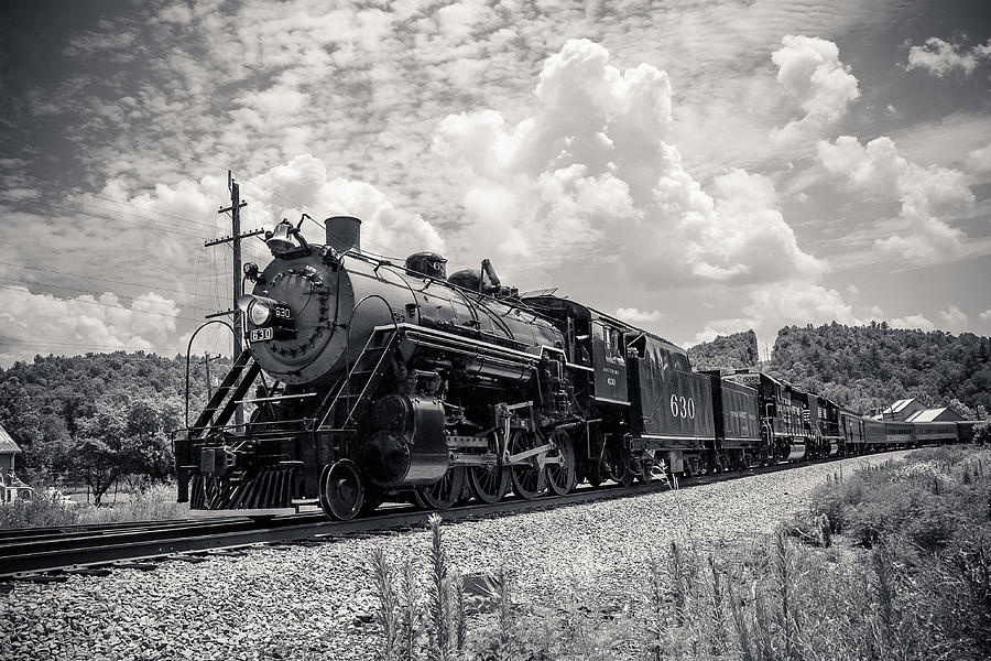 Train Photograph - Steam Engine by Darrin Doss