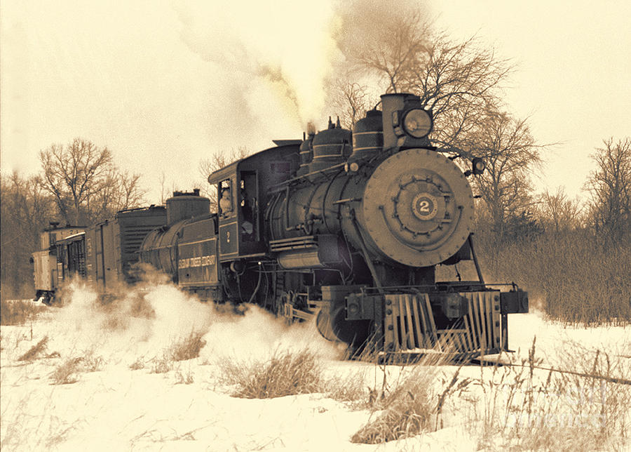Sepia Photograph - Steam Engine Number Two by Robert Kleppin