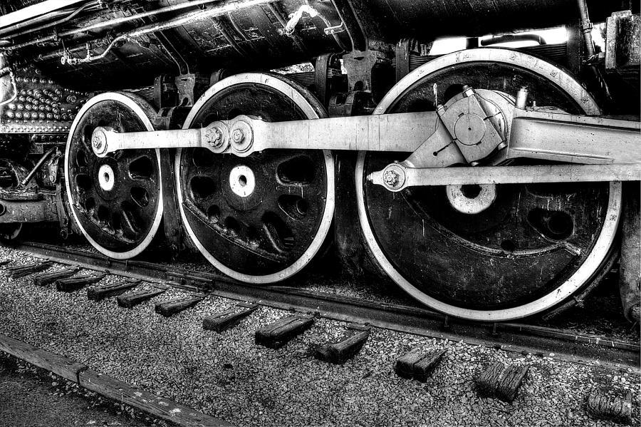 Parthenon Digital Art - Steam Engine Wheels by Honour Hall