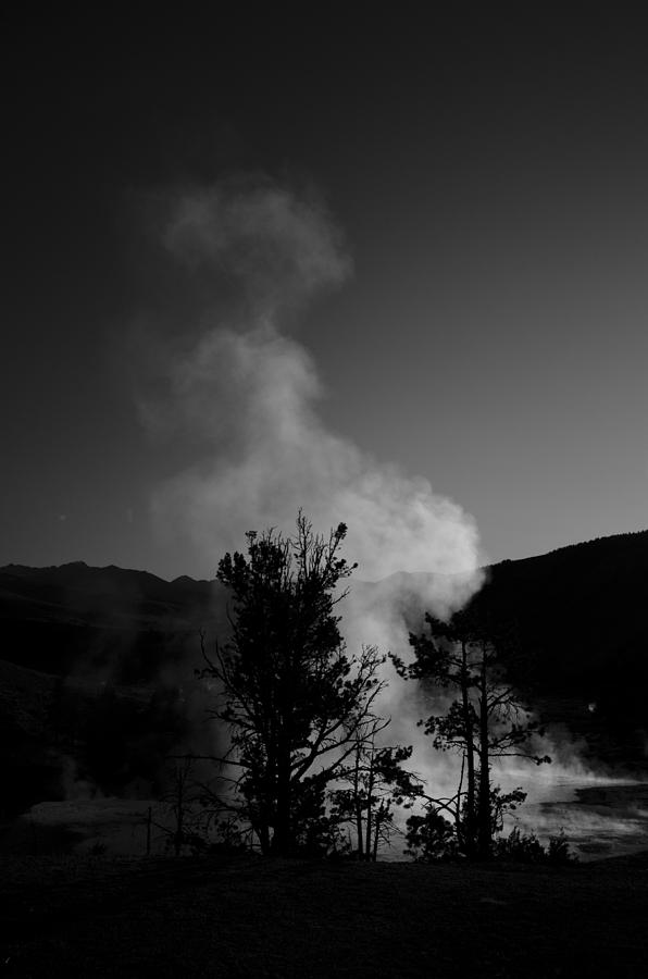 Steam From Palette Springs Photograph
