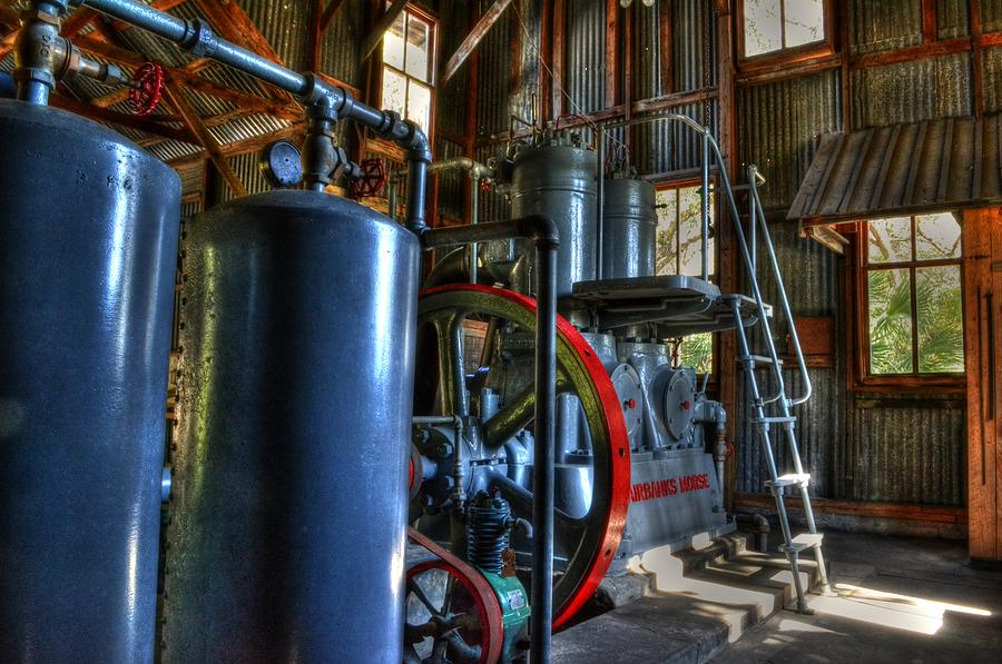 Steam Punk Photograph - Steam Generator At Koreshan by Timothy Lowry