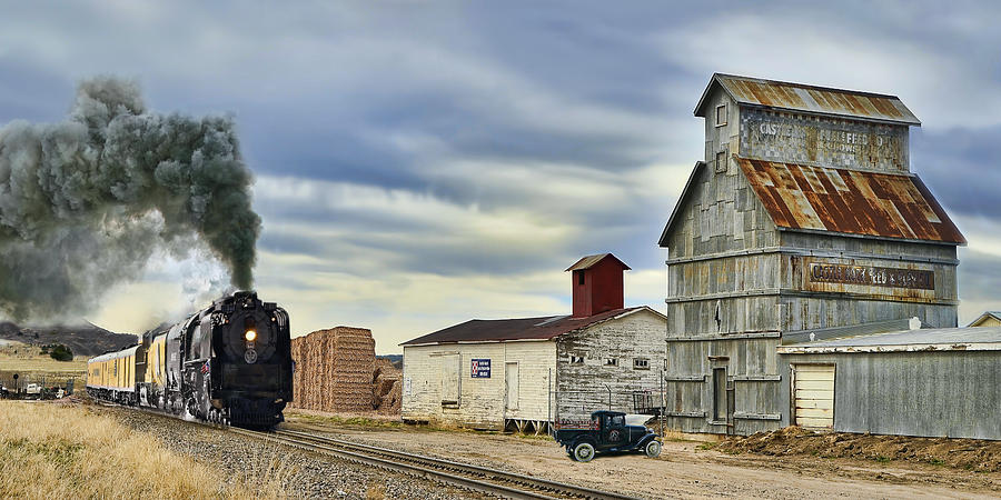 Union Pacific Photograph - Steam in Castle Rock by Ken Smith
