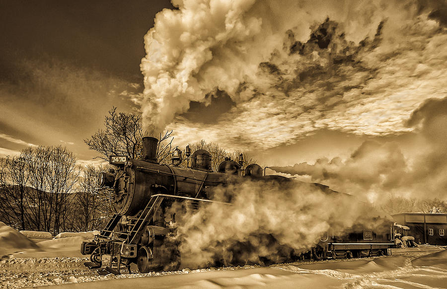 Steam in the Snow by Thomas Lavoie