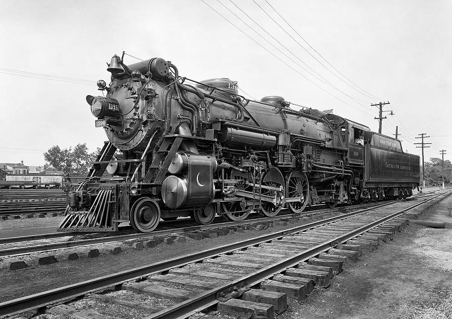 Locomotive Photograph - Steam Locomotive Crescent Limited C. 1927 by Daniel Hagerman