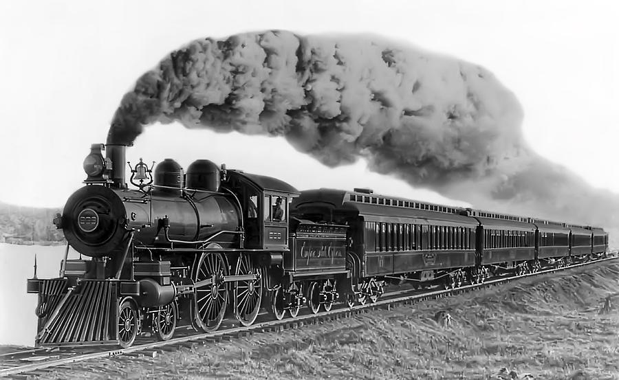 Steam Photograph - Steam Locomotive No. 999 - C. 1893 by Daniel Hagerman