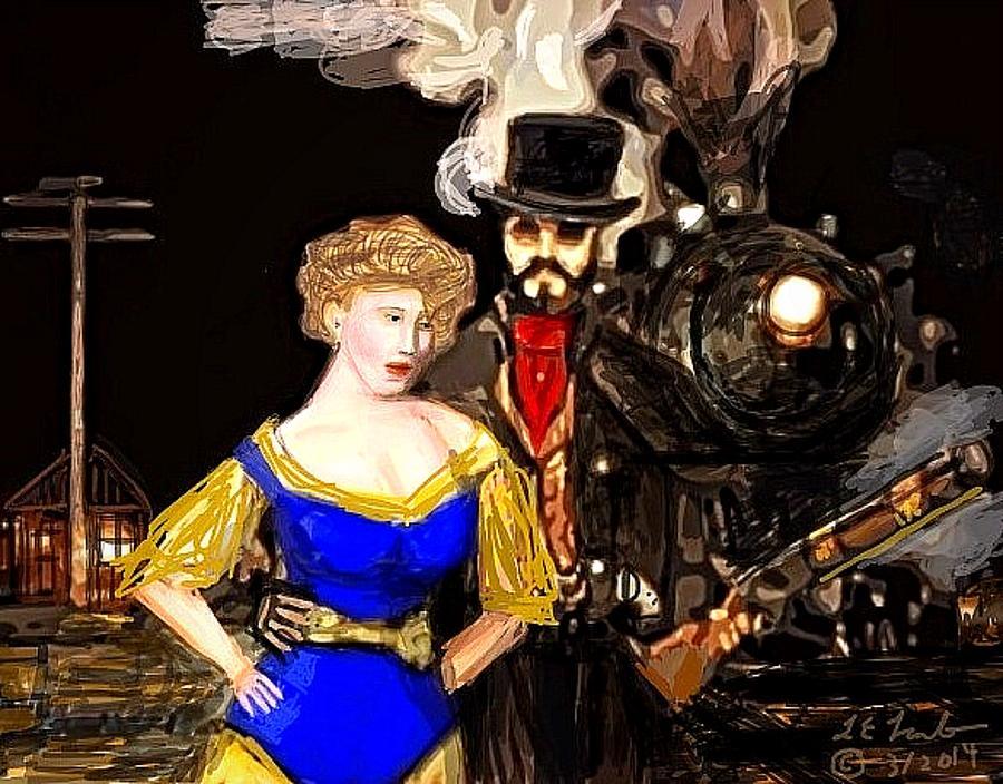 Art Painting - Steam Punk Love by Larry Lamb