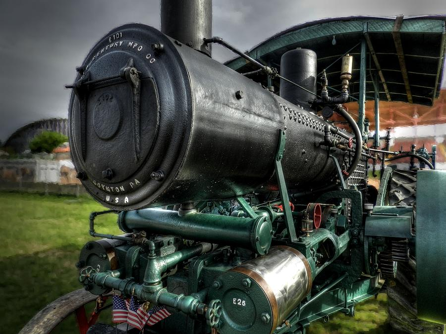 Steam Tractor Photograph - Steam Tractor 001 by Lance Vaughn