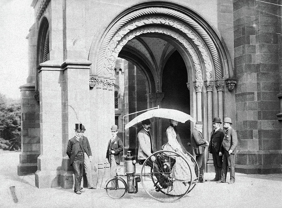 1888 Photograph - Steam Tricycle, 1888 by Granger