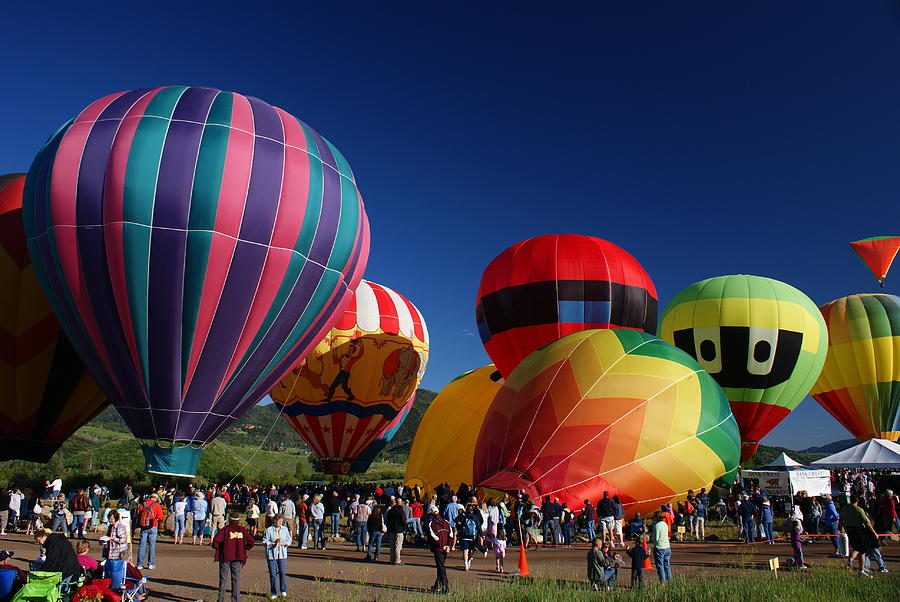 Steamboat Ski Resort Photograph - Steamboat Balloon Rising  by Michael J Bauer