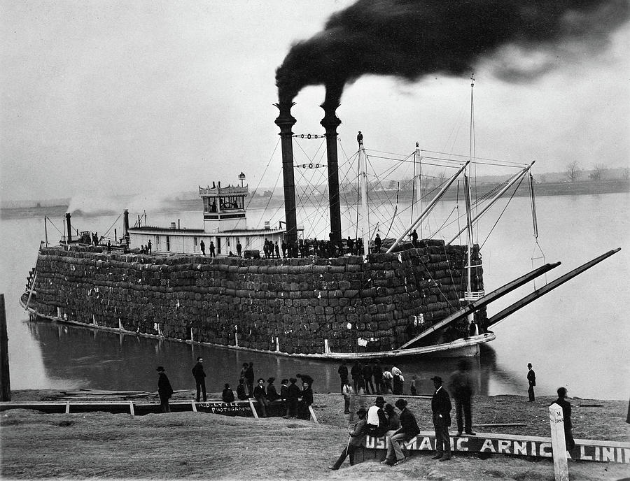 1890 Photograph - Steamboat, C1900 by Granger