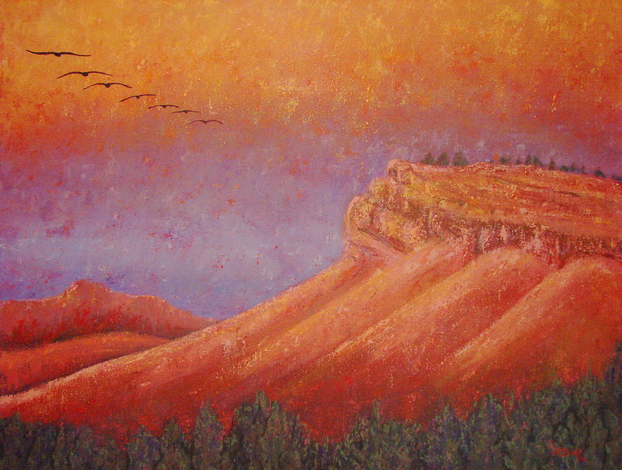 Steamboat Mountain Painting - Steamboat Mountain at Sunrise by Margaret Bobb