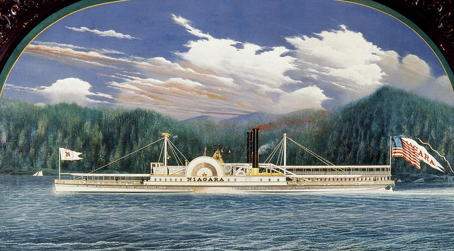 1852 Painting - Steamboat Niagara, 1852 by Granger