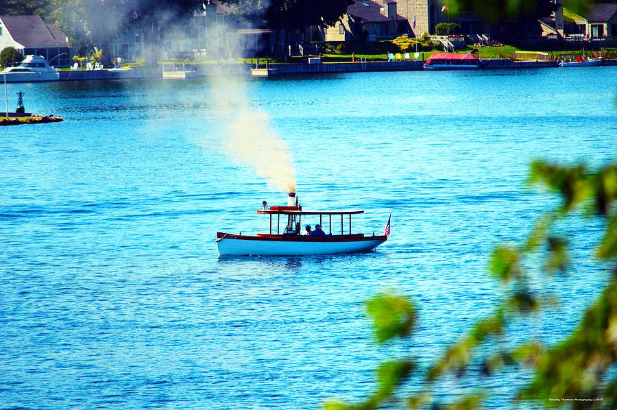 Steamboat Photograph - Steamboat On St. Lawrence River by Timothy Thornton