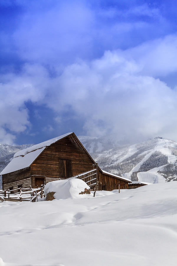Champagne Powder Photograph - Steamboat Springs Barn History by Teri Virbickis