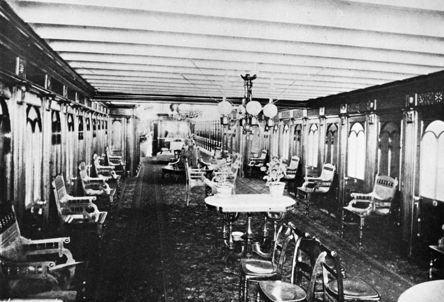 1867 Photograph - Steamer Interior, C1867 by Granger