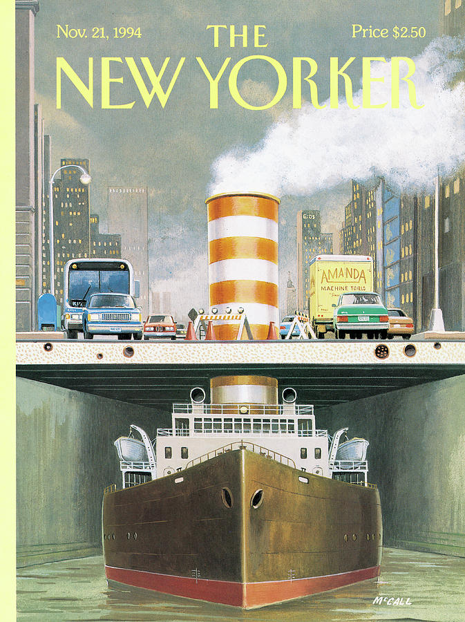 New Yorker November 21st, 1994 Painting by Bruce McCall