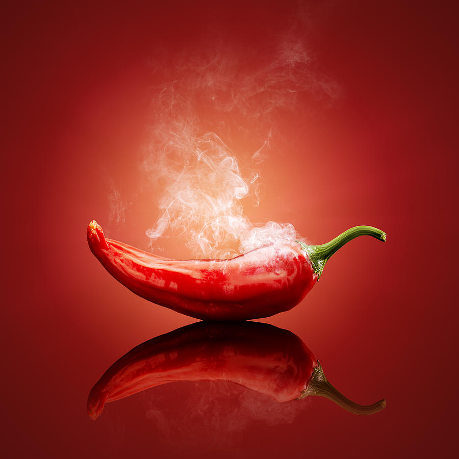 Chilli Photograph - Steaming hot Chilli by Johan Swanepoel