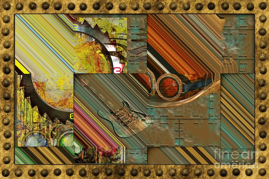 Steam Punk Digital Art - Steampunk Abstract by Liane Wright