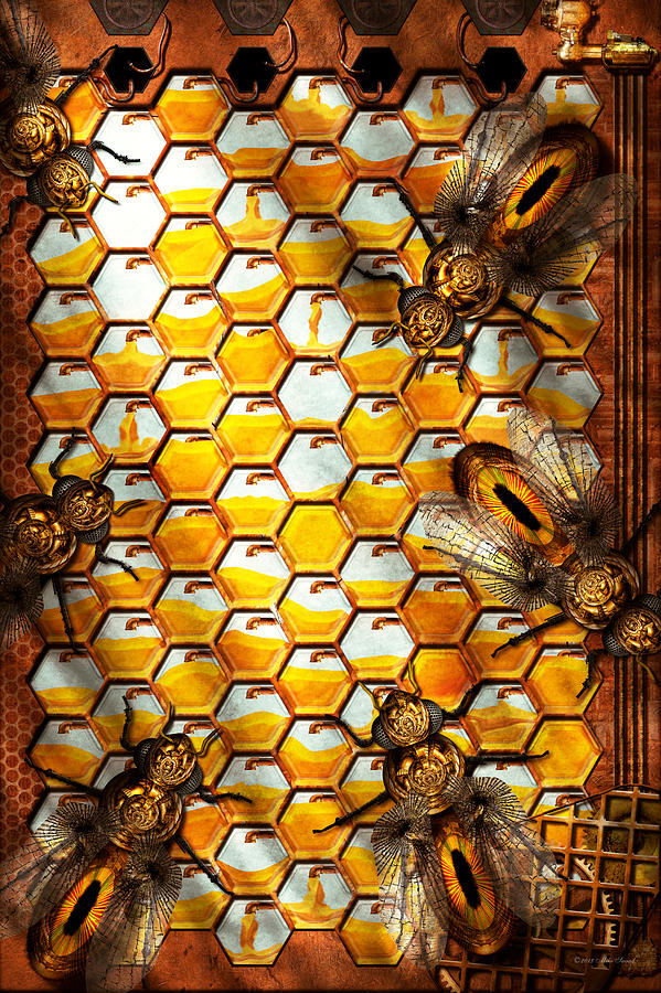 Self Photograph - Steampunk - Apiary - The Hive by Mike Savad