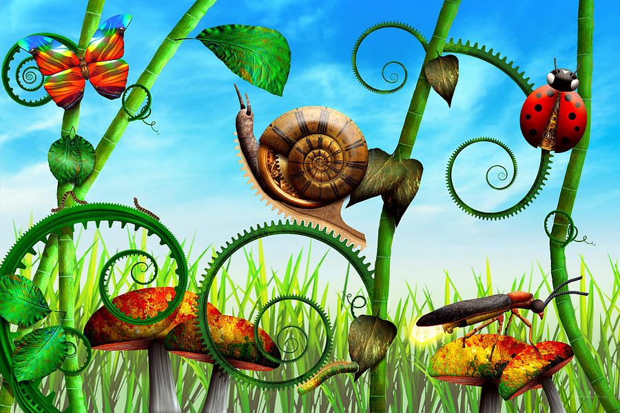 Self Photograph - Steampunk - Bugs - Evolution Take Time by Mike Savad