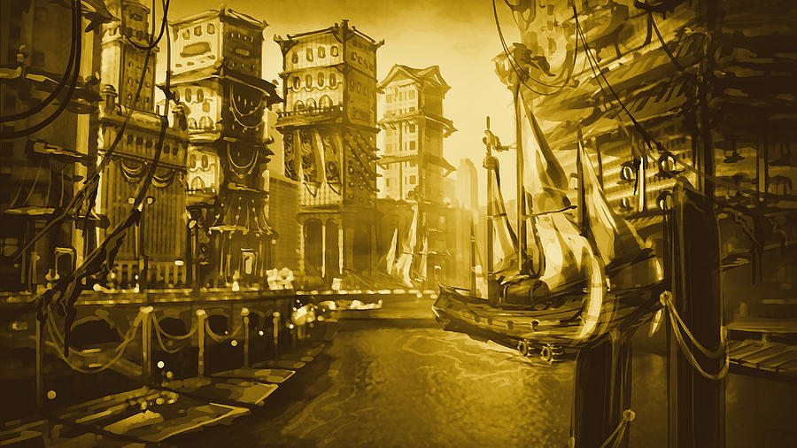 Steampunk City Digital Art By Jamie Stone