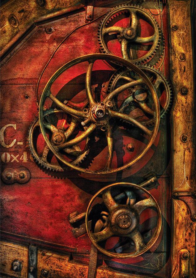 Savad Photograph - Steampunk - Clockwork by Mike Savad