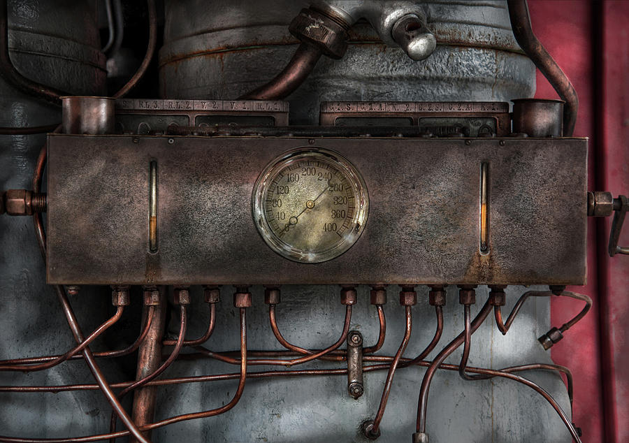 Hdr Photograph - Steampunk - Connections   by Mike Savad