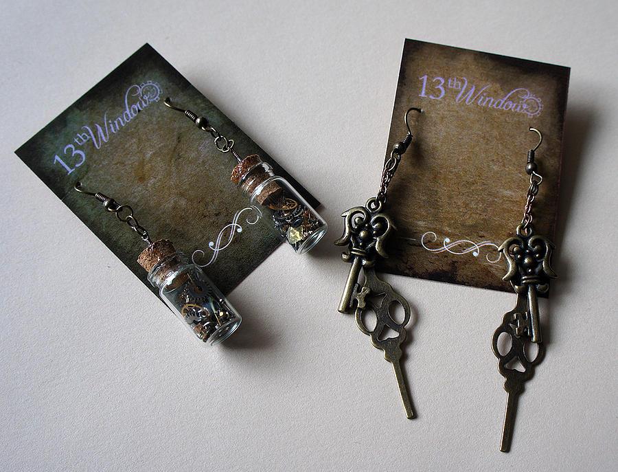 Steampunk Jewelry - Steampunk Earrings by Jaime Andrews