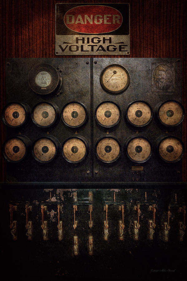 Steampunk Photograph - Steampunk - Electrical - Center Of Power by Mike Savad