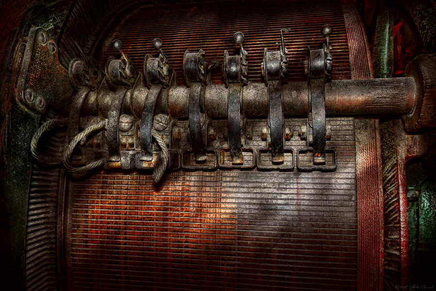 Steampunk Photograph - Steampunk - Electrical - Motorized  by Mike Savad